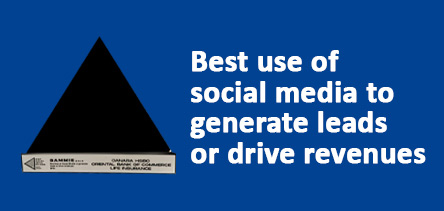 Best Use of Social Media to Generate Leads or Drive Revenues